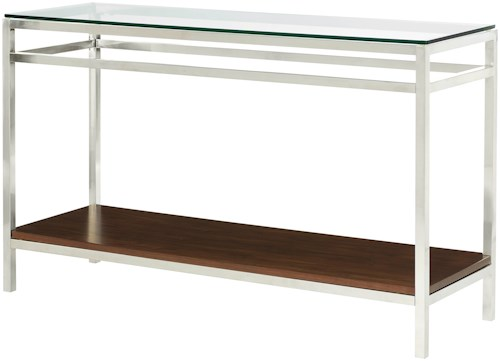 Hammary Xpress Sofa Table with Glass Tabletop