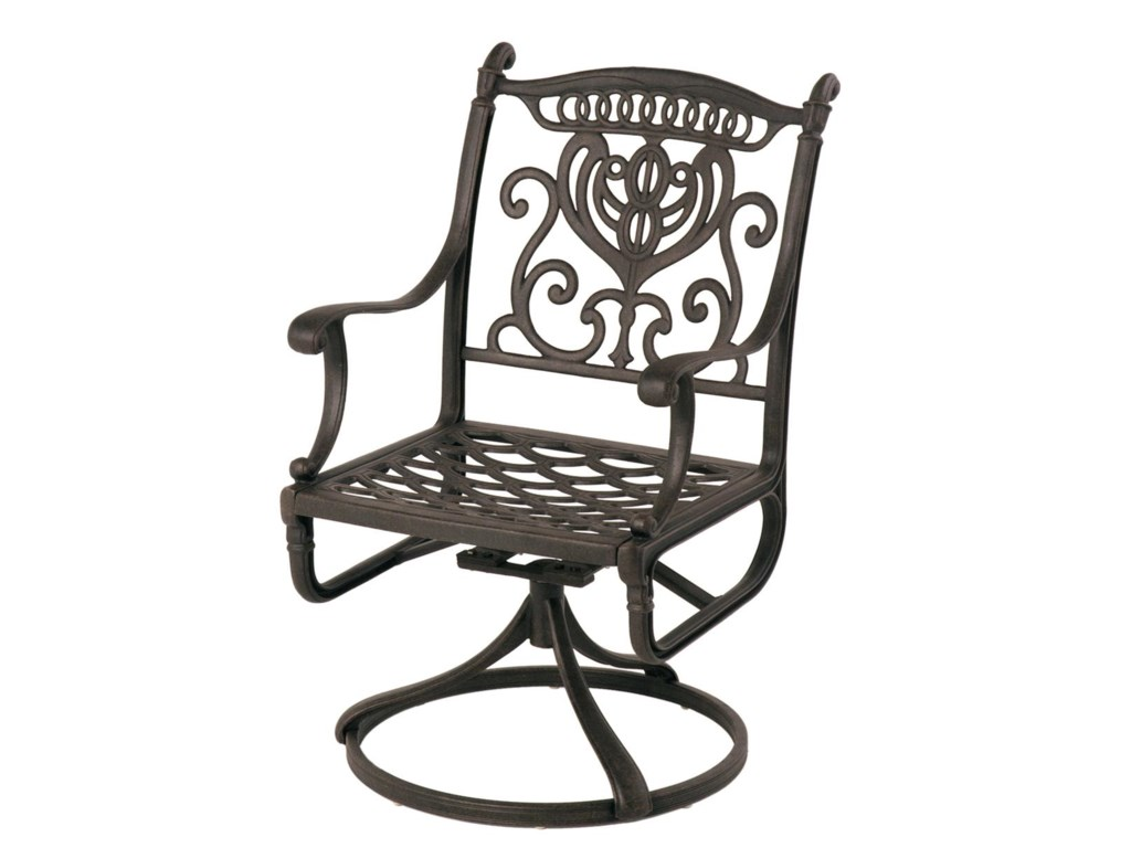 swivel patio item products arms by aluminum rocker hanamint grand b frame outdoor scroll tuscany furniture sling and with