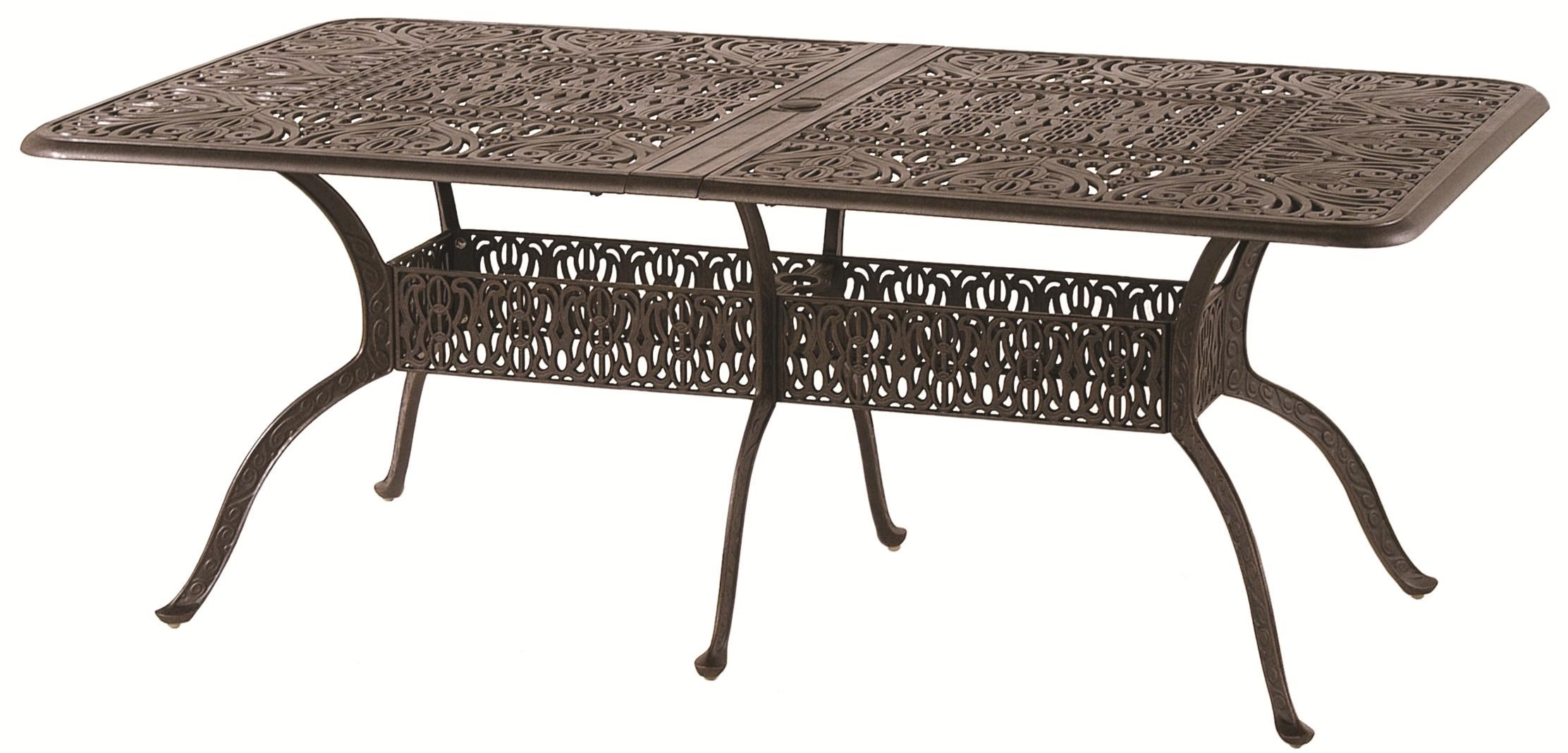 Hanamint Tuscany Aluminum Dining Table With 24u0027 Extension   John V Schultz  Furniture   Outdoor Dining Table
