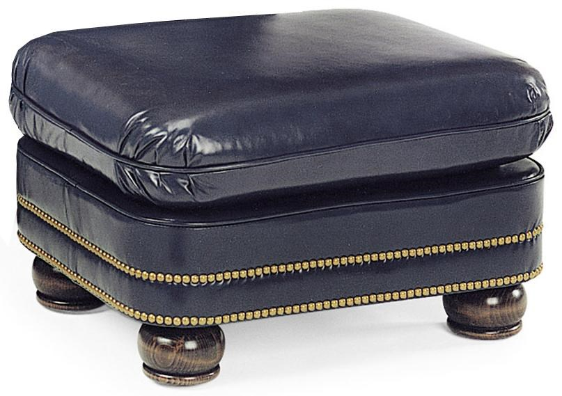 Hancock U0026 Moore Austin Traditional Ottoman With Bun Feet And Nailhead Trim