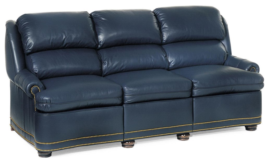 Hancock Moore Austin Traditional Full Recline Sofa With Nailhead  ~ Traditional Reclining Sofa