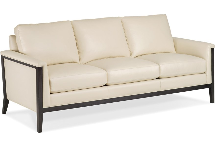 Contemporary Sofa With Exposed Wood Frame