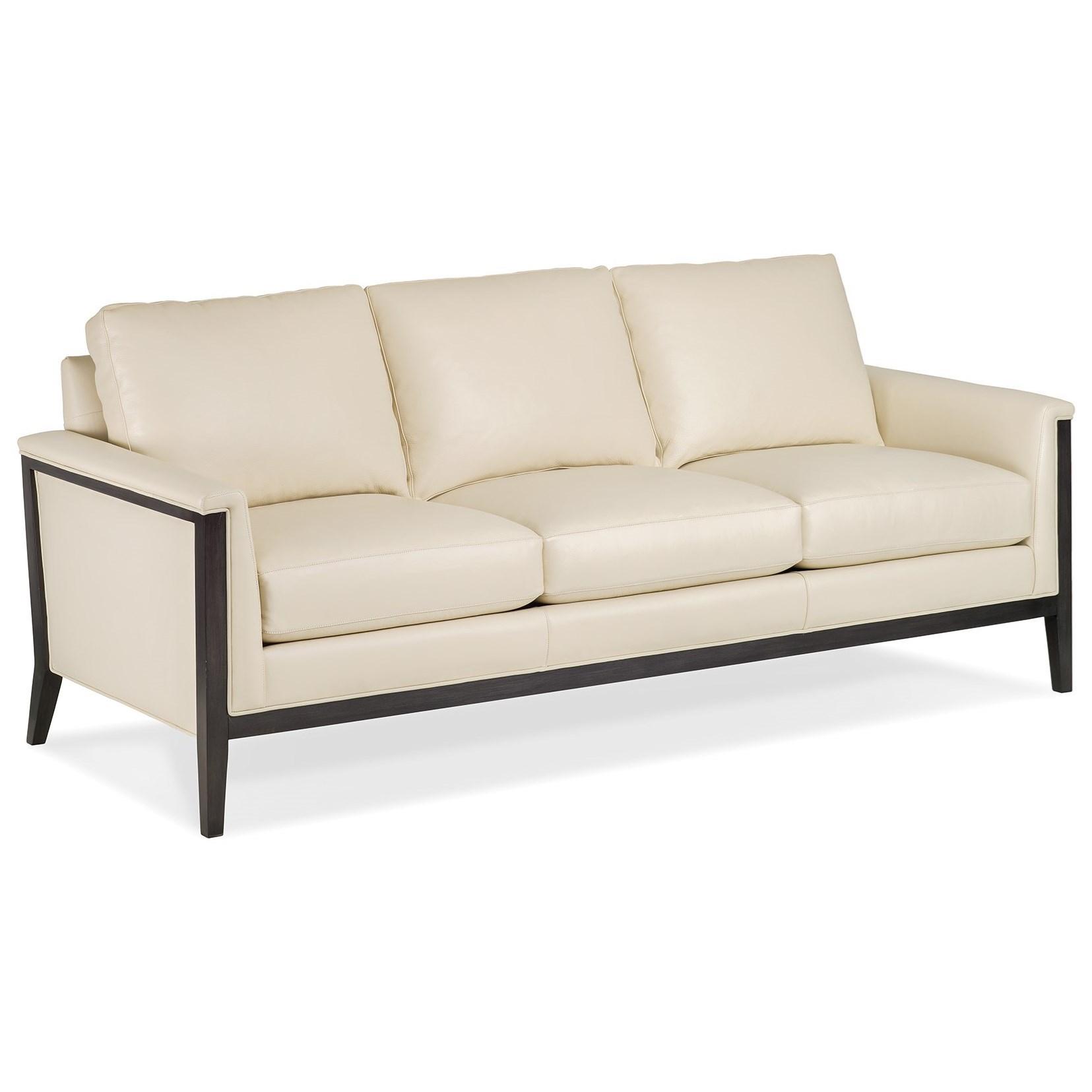 Hancock U0026 Moore Ava Contemporary Sofa With Exposed Wood Frame