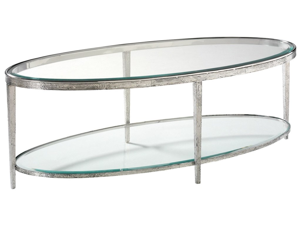 Hancock & Moore H & M OccasionalJinx Nickel Cocktail Table - Oval