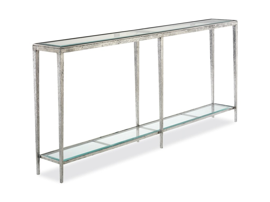 Hancock & Moore H & M OccasionalJinx Large Nickel Console Table