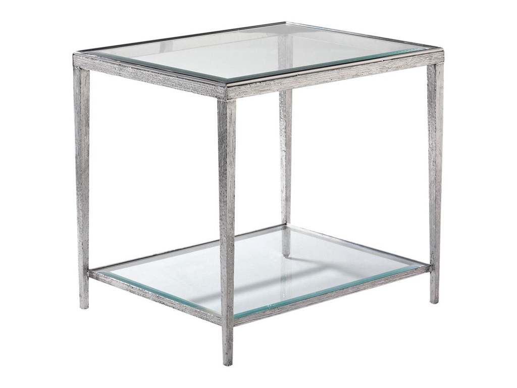 Hancock & Moore H & M OccasionalJinx Nickel Side Table - Square