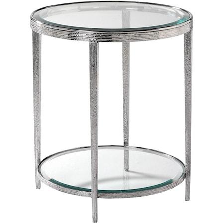 Jinx Nickel Side Table