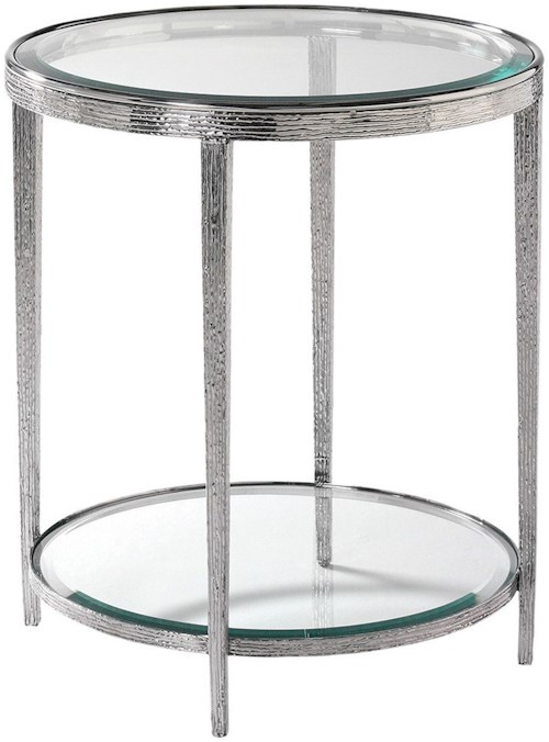 Hancock & Moore H & M Occasional Jinx Nickel Round Side Table