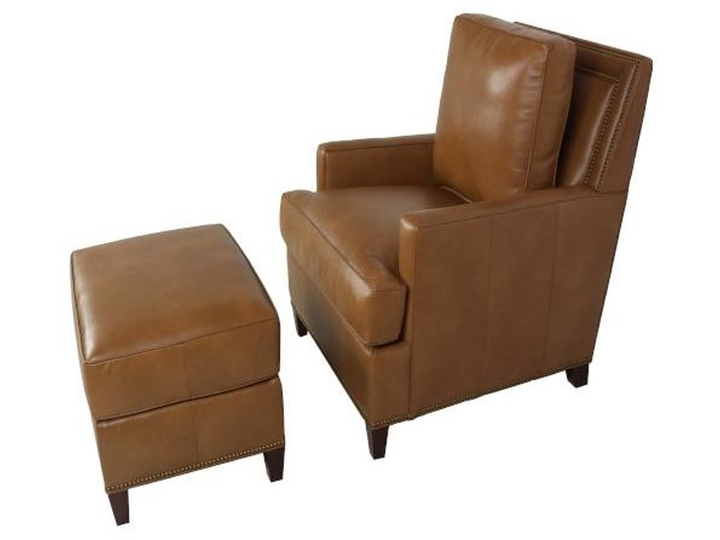 Sprintz Hanmo Leather Chair And Ottoman By Han Moore