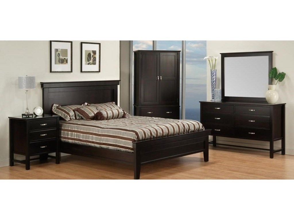 Handstone BrooklynFull Bed with Low Footboard