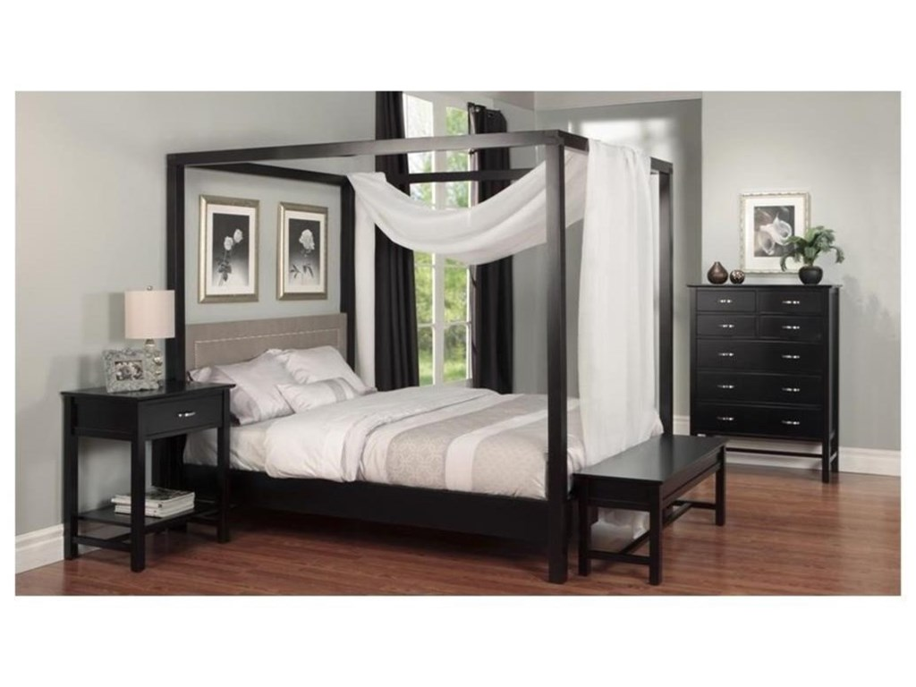 Handstone BrooklynTwin Canopy Bed