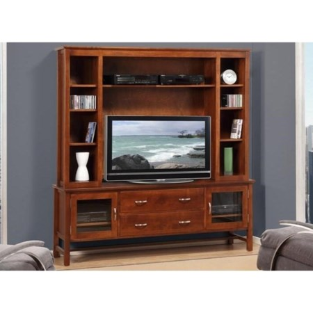 """74"""" HDTV Cabinet with Hutch"""