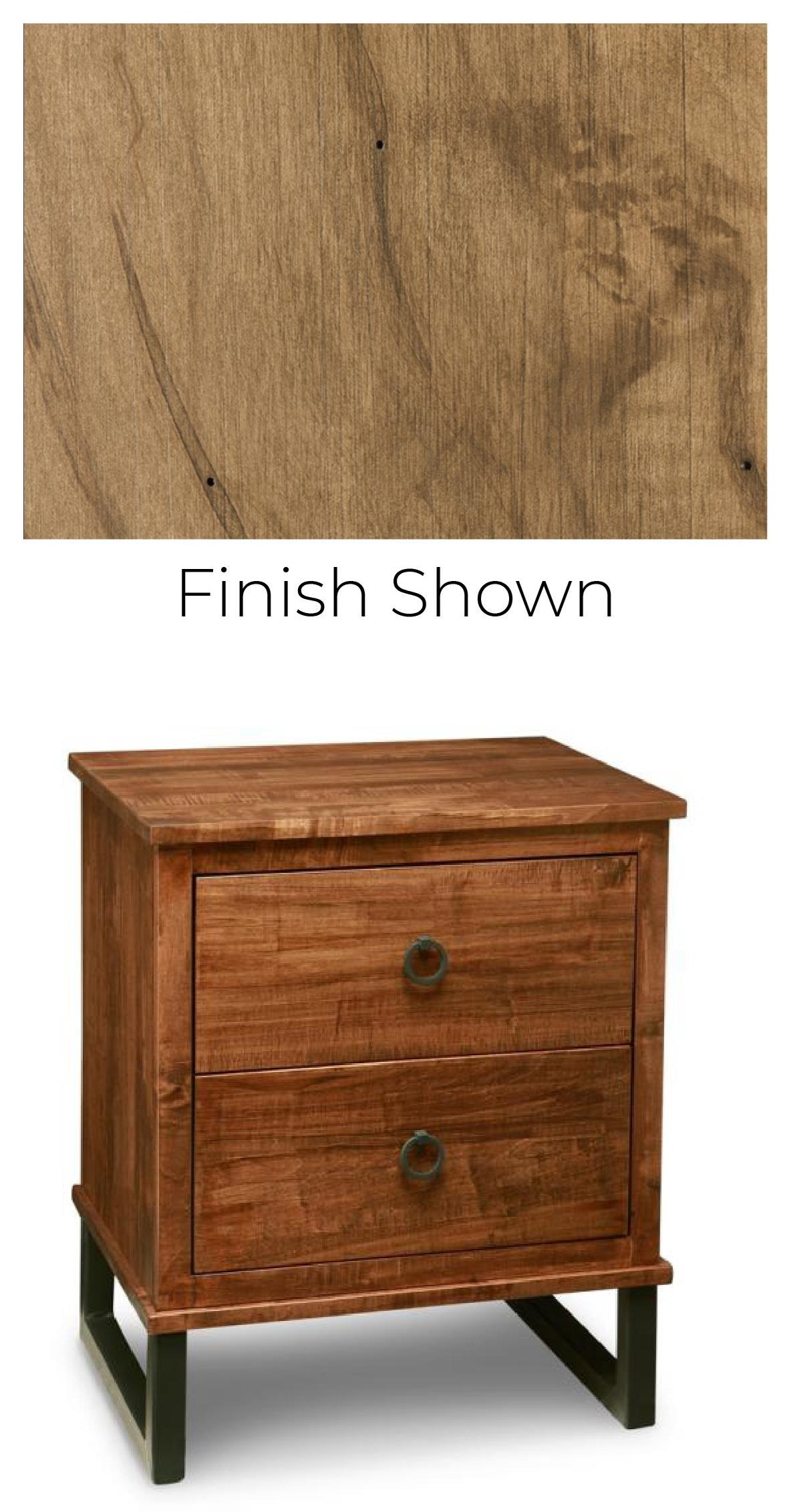 Solid Maple 2 Drawer Nightstand with Power Management