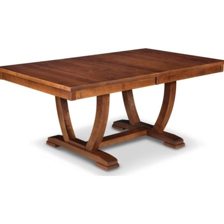 "48x72"" Solid Top Trestle Dining Table"