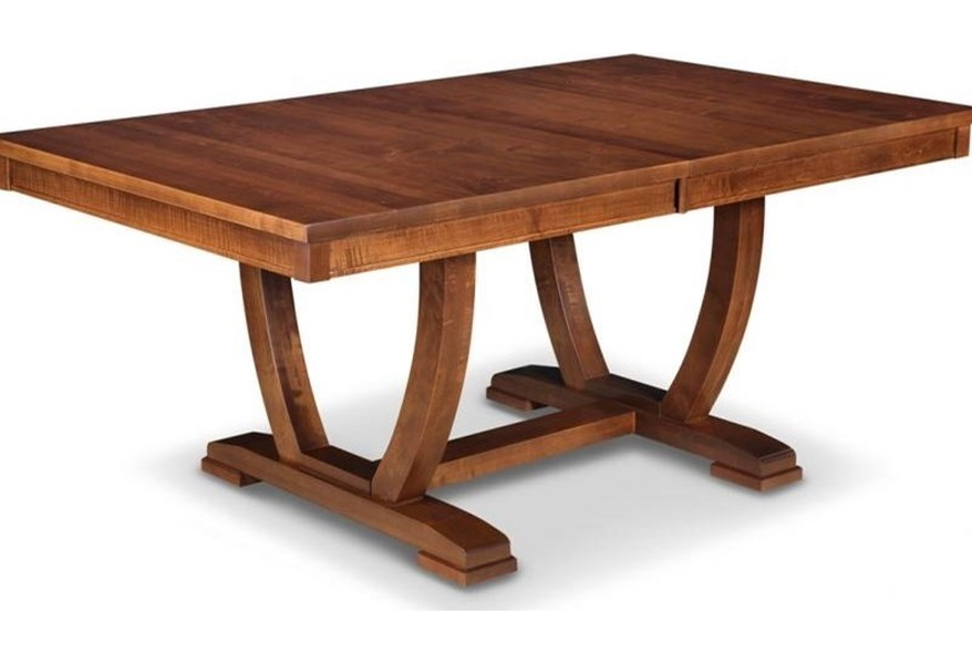 Handstone Florence 48x96 Solid Top Trestle Dining Table Reid S Furniture Dining Room Table