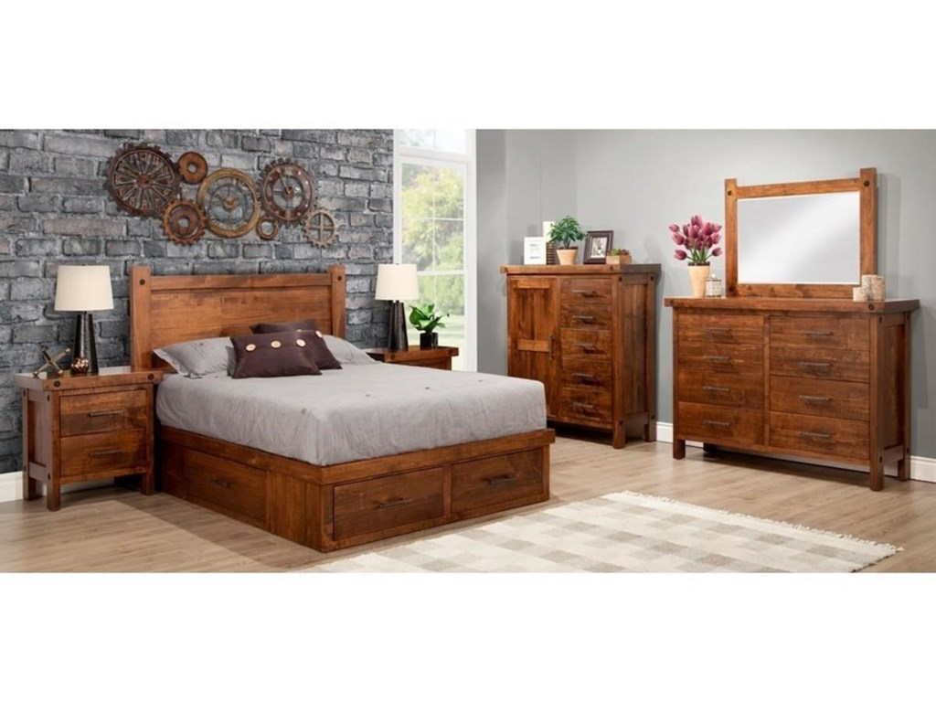 Handstone Rafters4-Drawer Queen Condo Bed