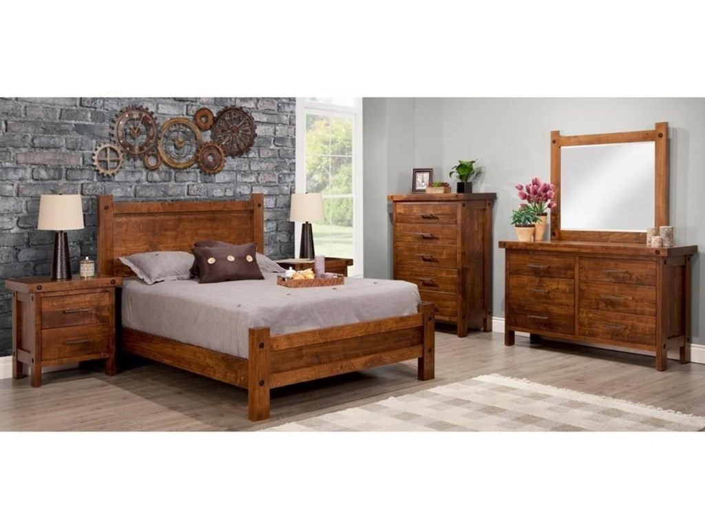 Handstone RaftersQueen Bed with Low Footboard