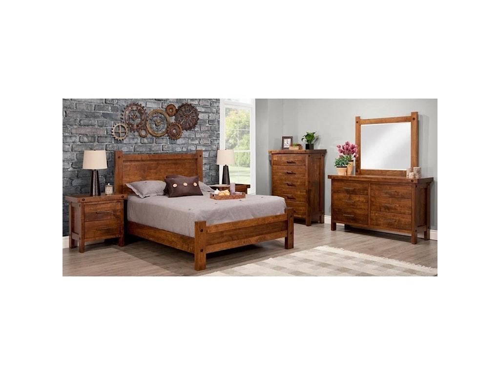 Handstone Rafters6-Drawer Long Dresser