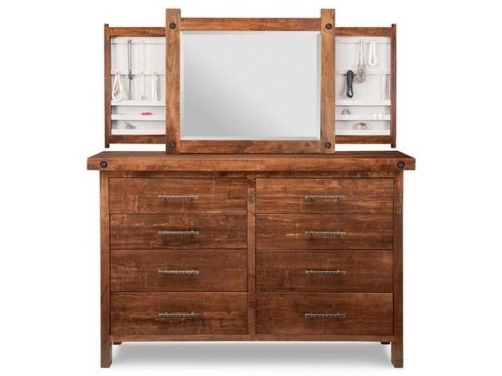 Handstone Rafters8-Drawer Long High Dresser