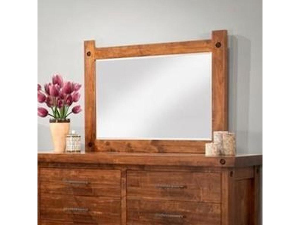 Handstone RaftersLow Landscape Mirror