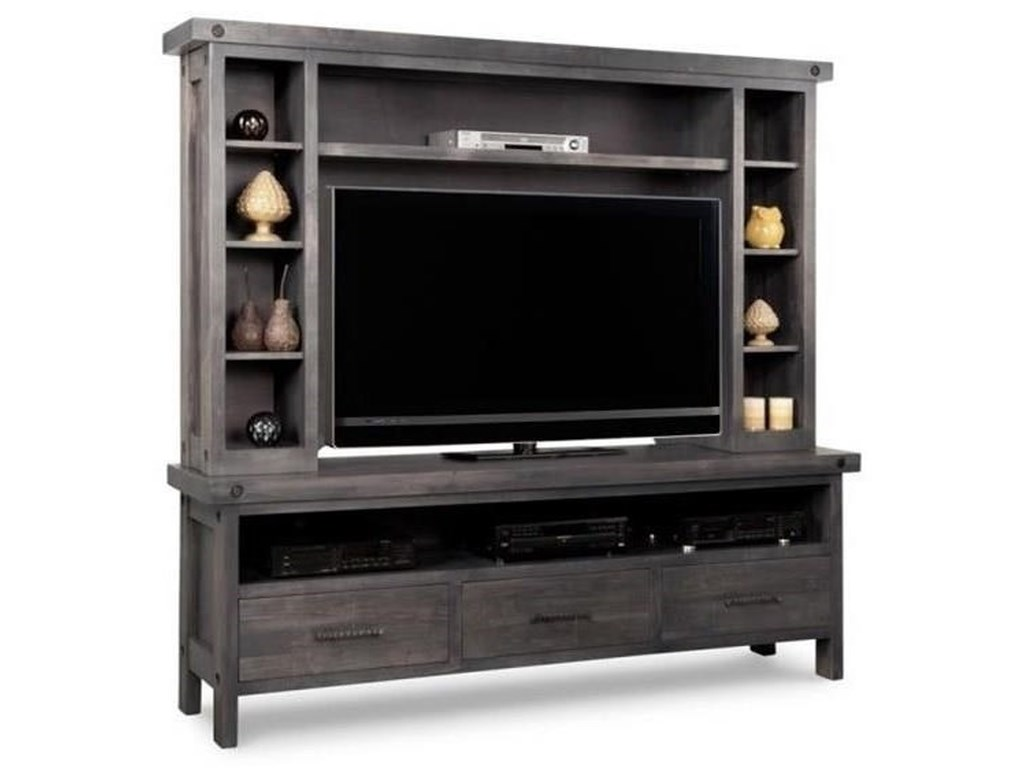 Handstone RaftersHDTV Unit with Hutch