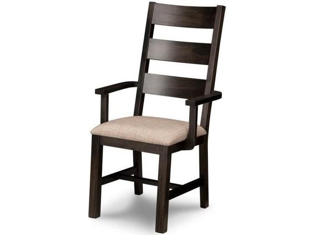 Handstone RaftersArm Chair in Fabric or Bonded Leather