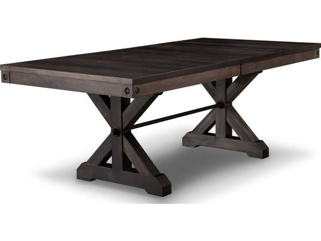 Handstone Rafters42x84 Solid Top Trestle Table