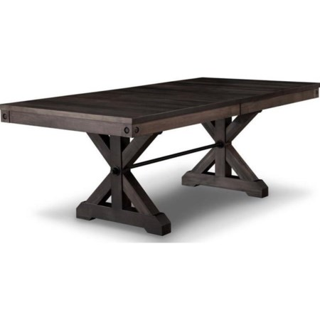 42x84 Solid Top Trestle Table