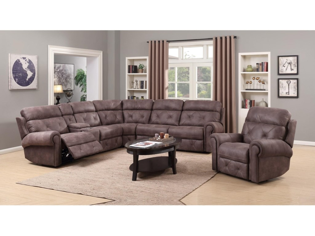 Happy Leather Company 1378Power Reclining