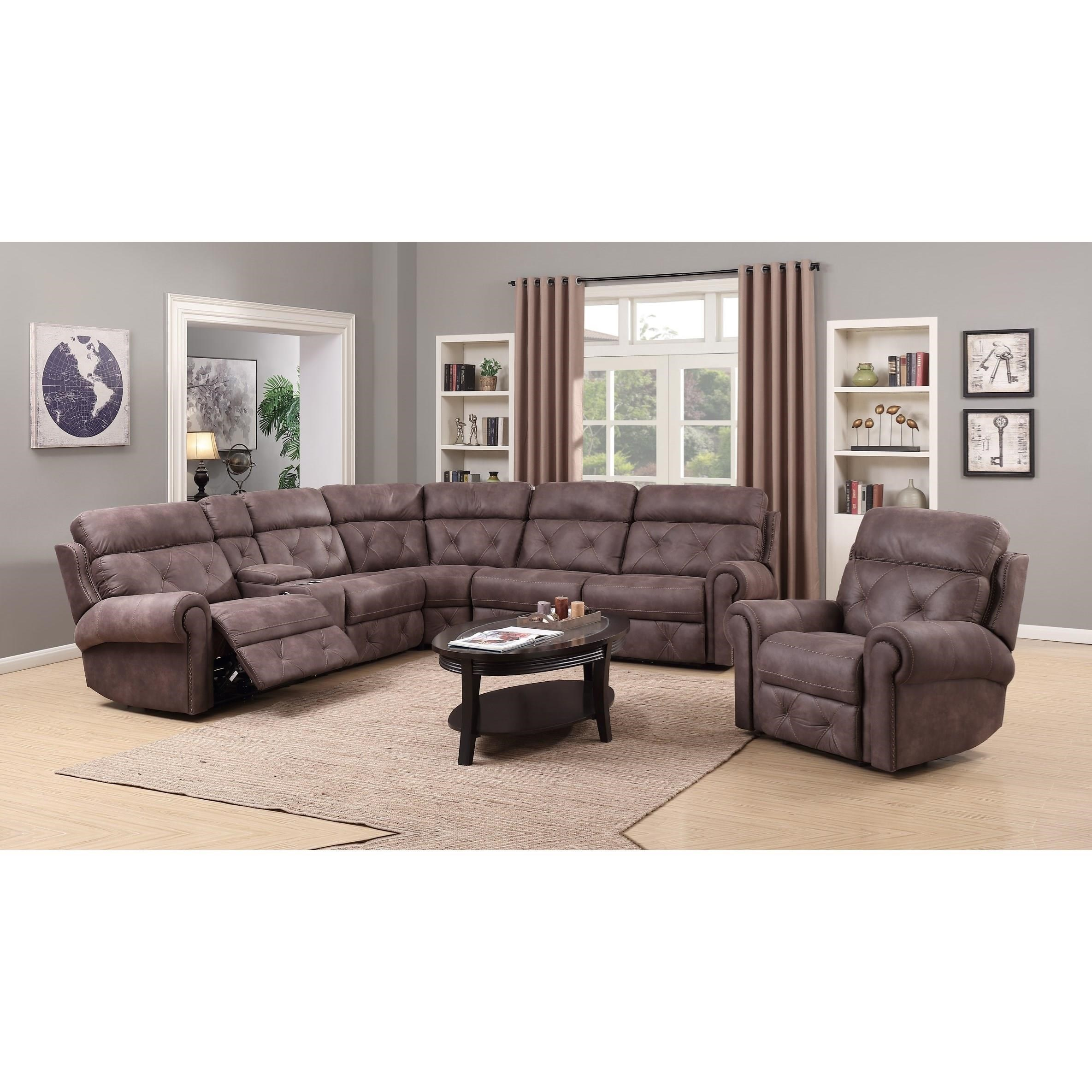 Ordinaire Happy Leather Company 1378Power Reclining
