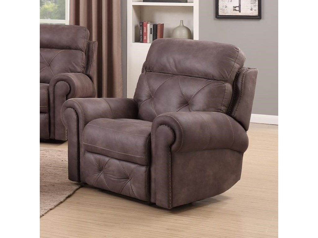 Happy Leather Company 1378Manual Recliner