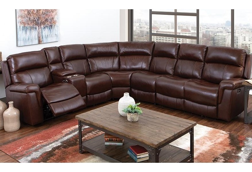 Genuine Leather Reclining Sectional