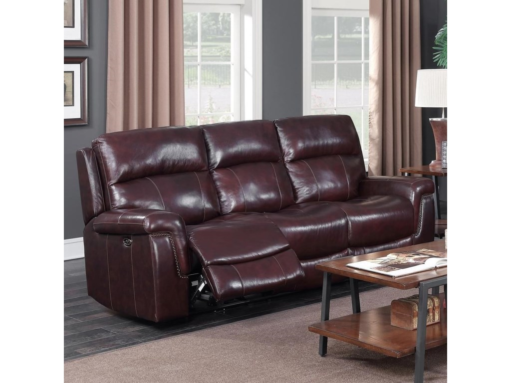 Happy Leather Company 1387APower Sofa