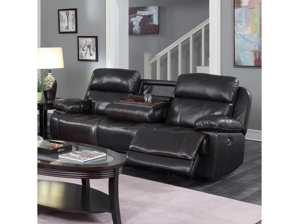Happy Leather Company 1397Drop Down Power Sofa