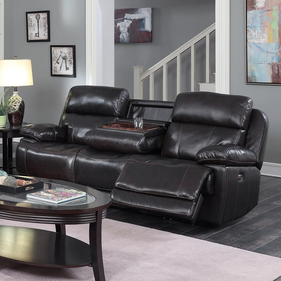Ordinaire Happy Leather Company 1397Drop Down Power Sofa ...