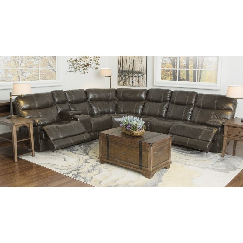 Happy Leather Company 3282BReclining 3 Piece Sectional