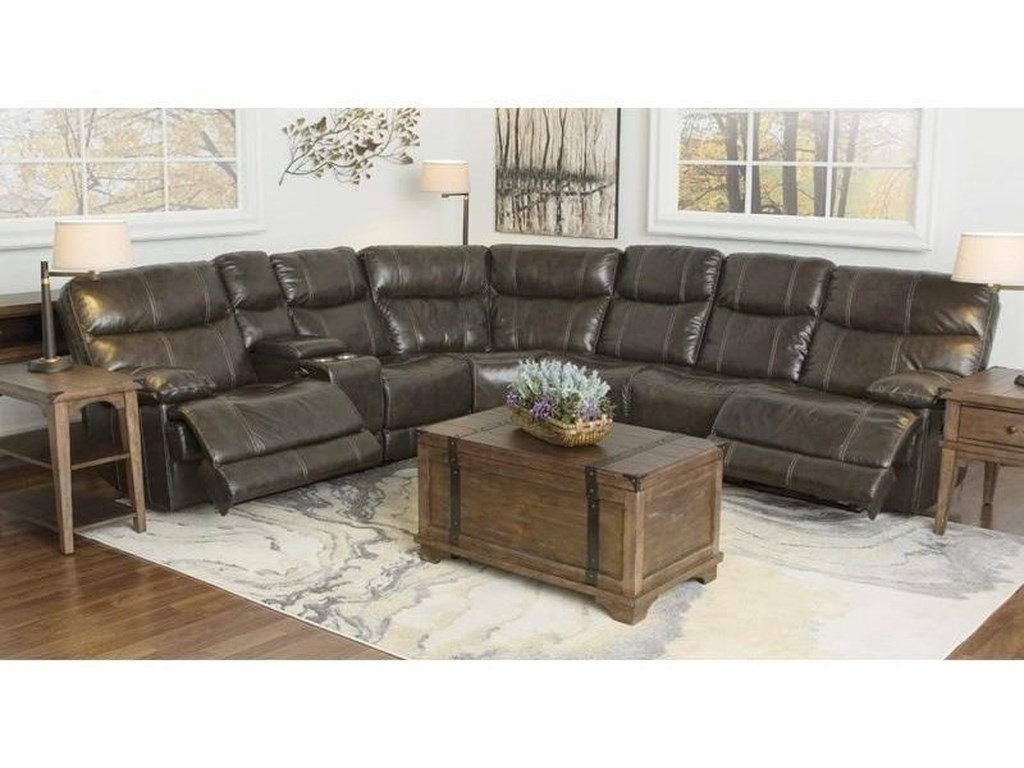 Happy Leather Company 3282B3 piece sectional