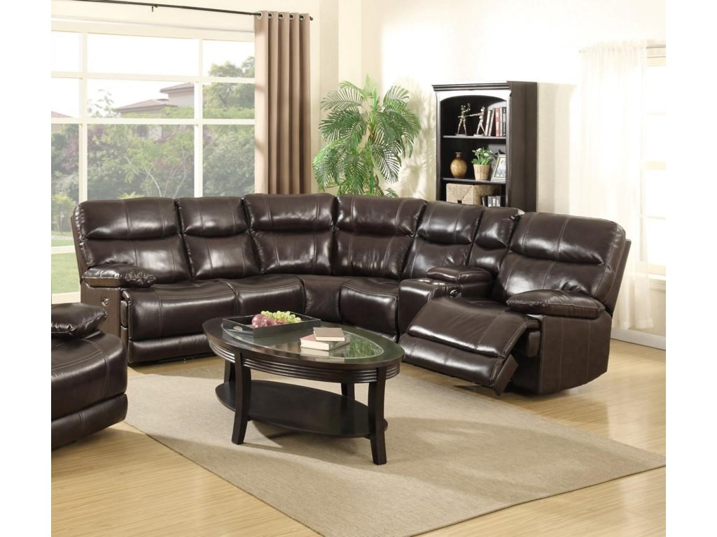 Happy Leather Company 3282BPower Reclining Sectional  Sofa Set