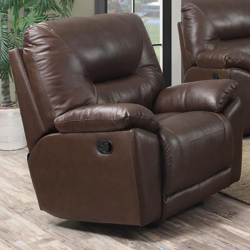 Happy Leather Company 5901Casual Rocker Recliner