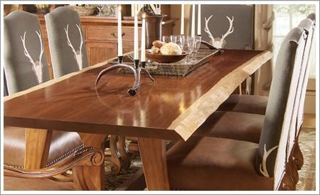 Cabinetmakers Cherry 1619 Live Edge Wood Base Dining Table By Harden Furniture