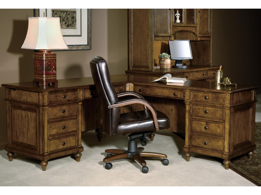 Home home office furniture l shape desk hekman 7 9000 executive l desk hekman 7 9000executive l desk