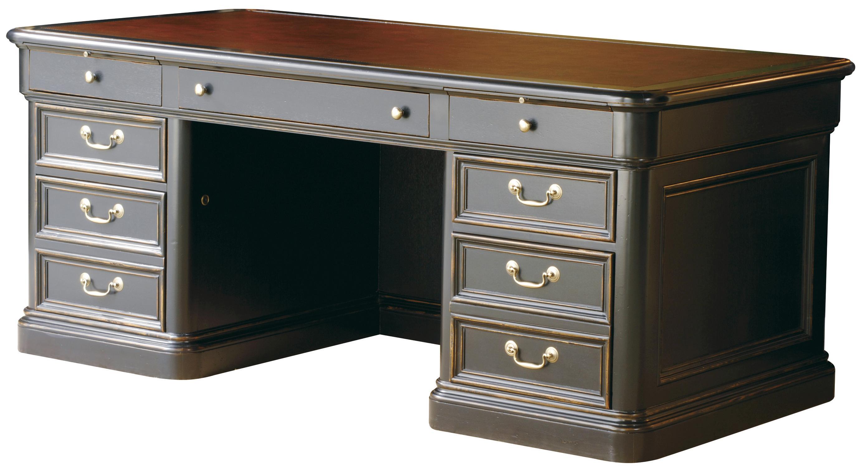 Hekman 7 9100 Double Pedestal Executive Desk