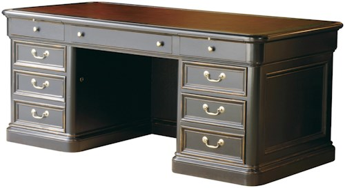 Hekman 7-9100 Double Pedestal Executive Desk