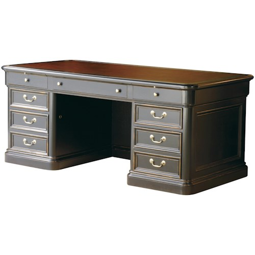 Hekman 7-9100 Double Pedestal Executive Desk