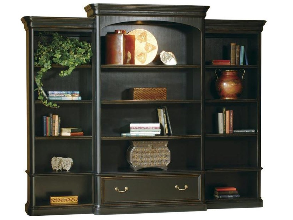 Hekman 7-9100Executive Wall Bookcase
