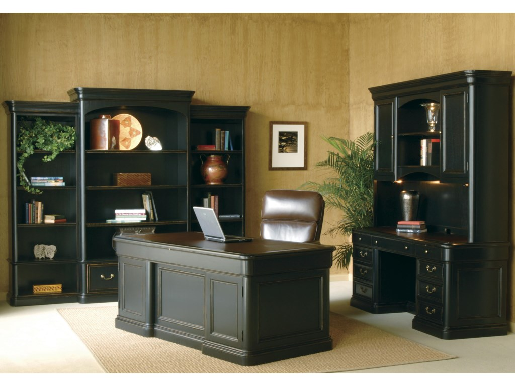Shown with Executive Desk and Credenza with Hutch