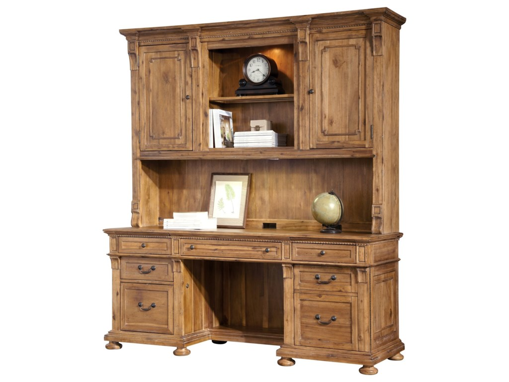 Hekman Office ExpressExecutive Credenza and Deck