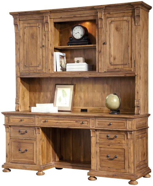 Hekman Office Express Executive Credenza and Deck