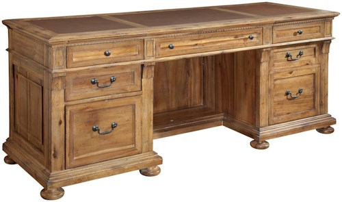 Hekman Office Express Executive Credenza with Secret Compartment in Kneehole