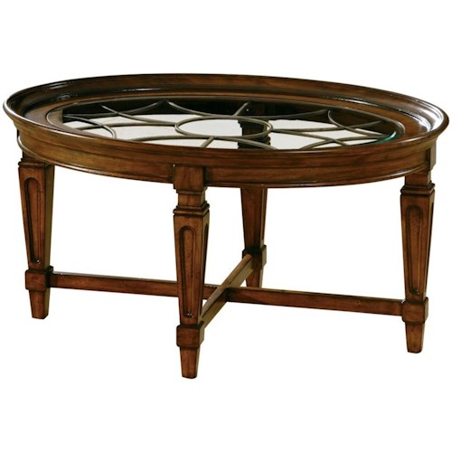 Hekman 7282 Traditional Coffee Table with Metal Grille